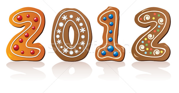 Stock photo: vector new year gingerbread cookies