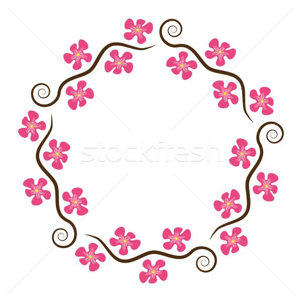 Foto stock: Vetor · abstrato · decoração · padrão · cereja