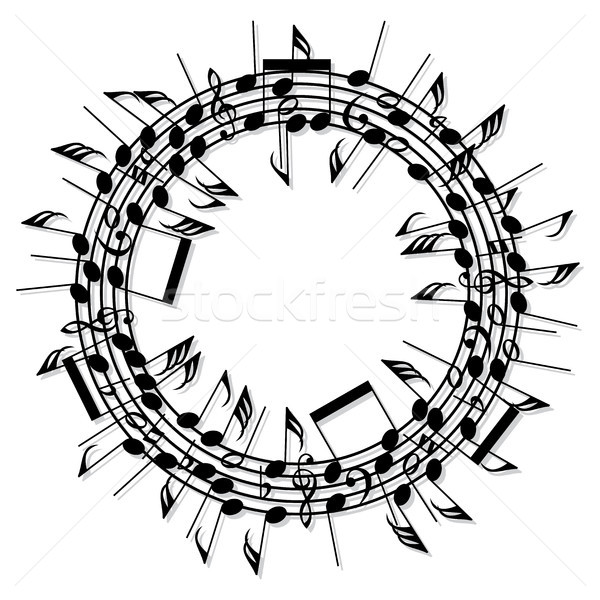 vector round background of music notes Stock photo © freesoulproduction