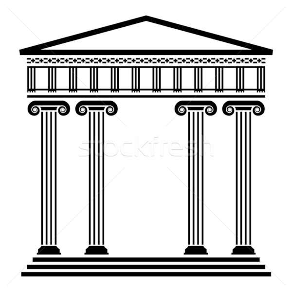 Stock photo: vector ancient greek architecture