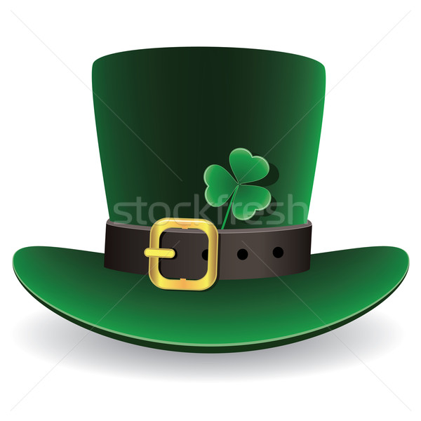 vector green St. Patrick's Day hat with clover  Stock photo © freesoulproduction
