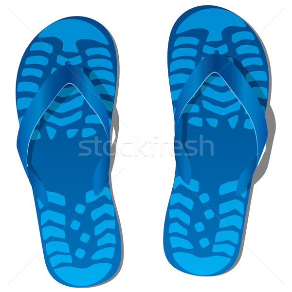 vector pair of flip flops  Stock photo © freesoulproduction