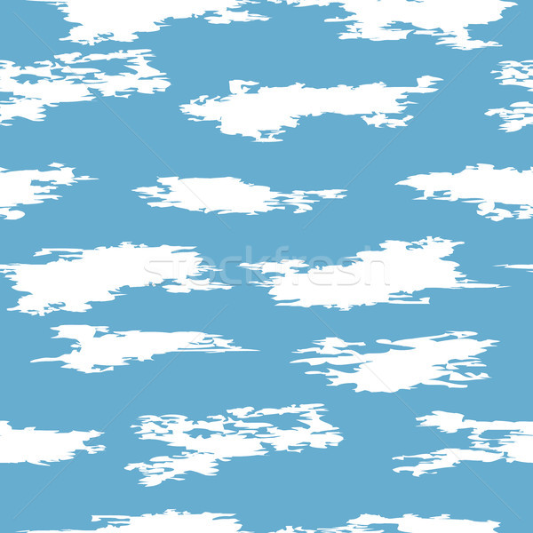 Stock photo: vector seamless clouds in the sky pattern