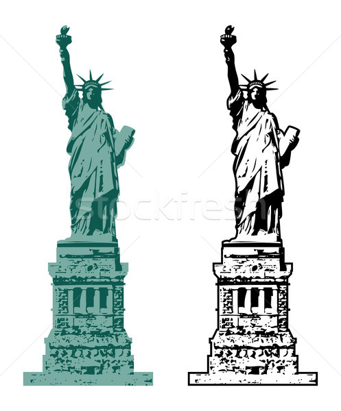 Vector amerikaanse symbool New York standbeeld vrijheid Stockfoto © freesoulproduction