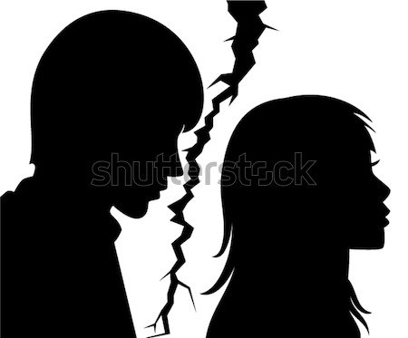 broken relationship between young man and woman Stock photo © freesoulproduction
