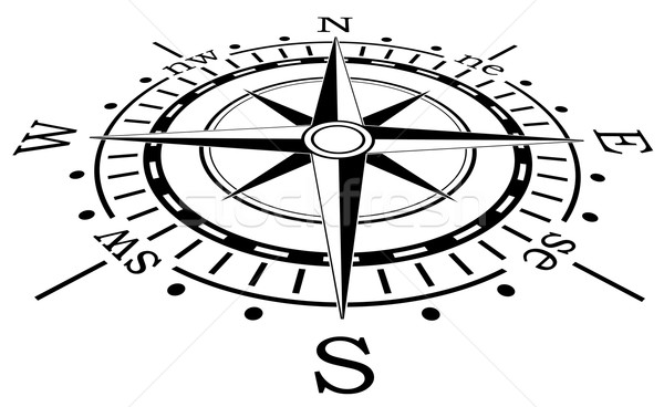 vector black compass  Stock photo © freesoulproduction