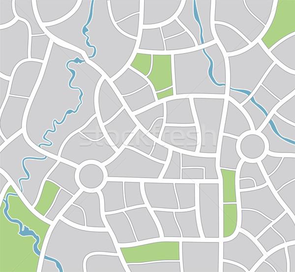 Vektor város térkép absztrakt kék utazás Stock fotó © freesoulproduction
