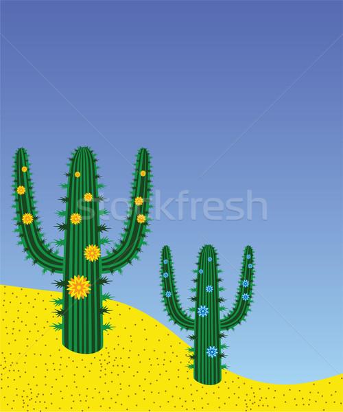 ベクトル 砂漠 抽象的な 自然 風景 背景 ストックフォト © freesoulproduction