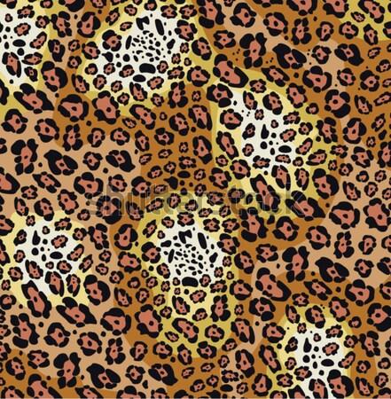 Stock photo: vector animal skin pattern of leopard print