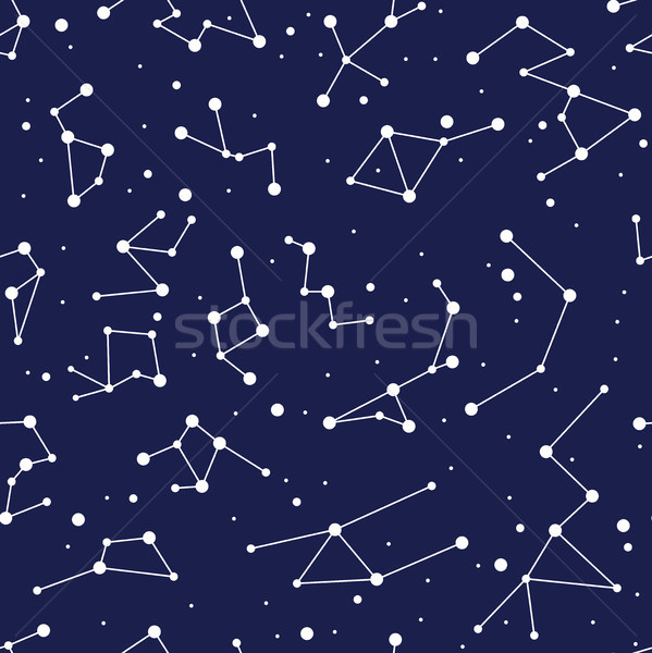vector constellation seamless background pattern. zodiac map Stock photo © freesoulproduction