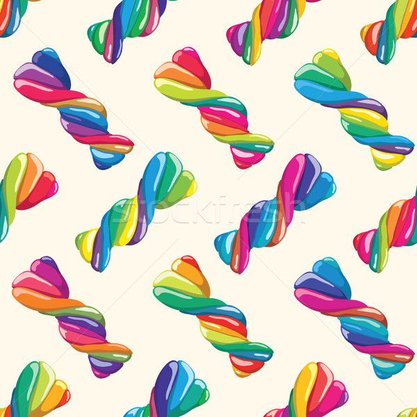 vector seamless pattern of twisted lollies Stock photo © freesoulproduction