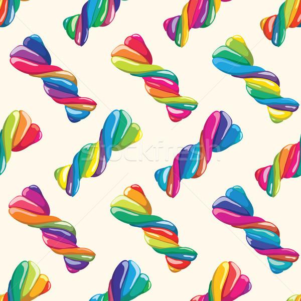 ベクトル カラフル キャンディ 子供 フルーツ ストックフォト © freesoulproduction