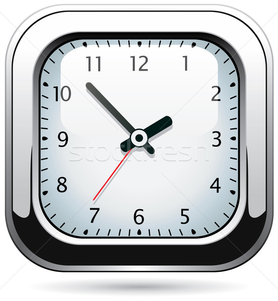 Vector plata reloj oficina mano fondo Foto stock © freesoulproduction