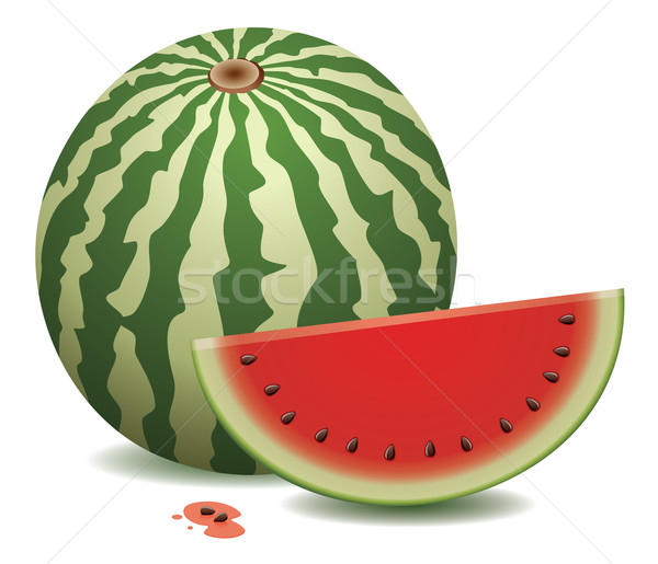 watermelon and a slice Stock photo © freesoulproduction