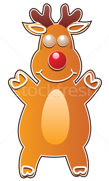 vector gingerbread cookie in the shape of rudolph deer Stock photo © freesoulproduction