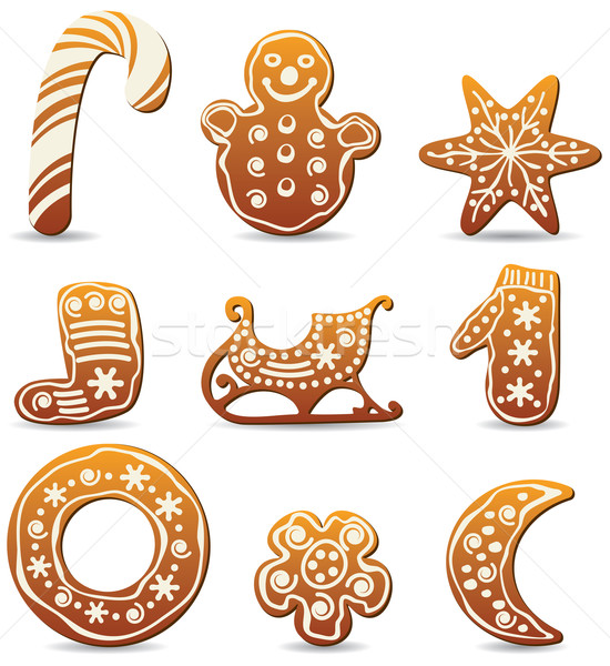 vector holiday gingerbread cookies Stock photo © freesoulproduction