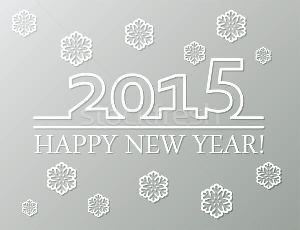 vector happy new year 2015 background decoration Stock photo © freesoulproduction
