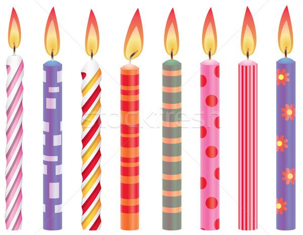 вектора набор красочный вечеринка фон Сток-фото © freesoulproduction