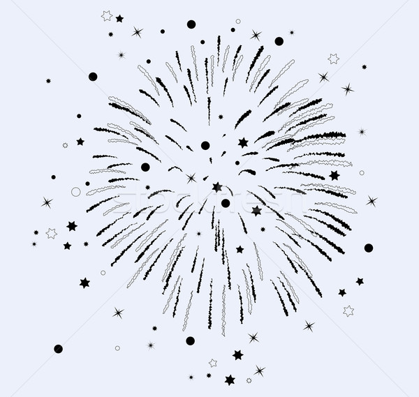 vector  fireworks with stars and sparkles  Stock photo © freesoulproduction