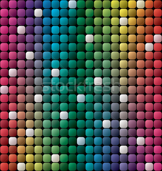 vector colorful tile mosaic background  Stock photo © freesoulproduction