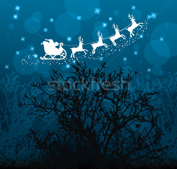 vector christmas holiday background with santa claus Stock photo © freesoulproduction