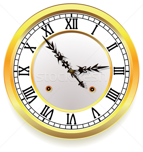 vector golden clock Stock photo © freesoulproduction
