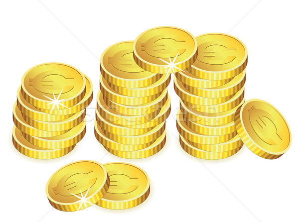 vector golden coins  Stock photo © freesoulproduction