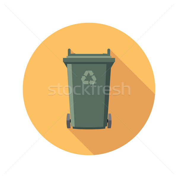 vector flat recycling wheelie bin icon Stock photo © freesoulproduction