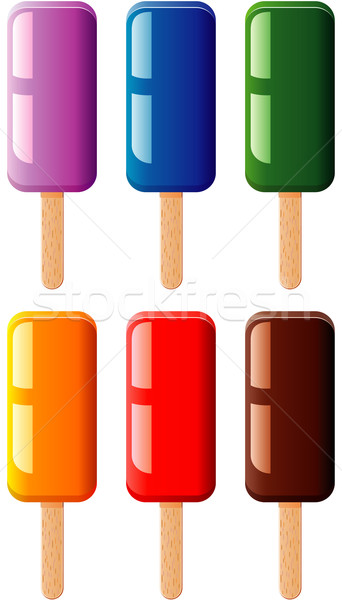 vector  fruit and chocolate colorful popsicles Stock photo © freesoulproduction