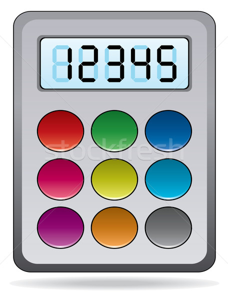 vector colorful calculator Stock photo © freesoulproduction