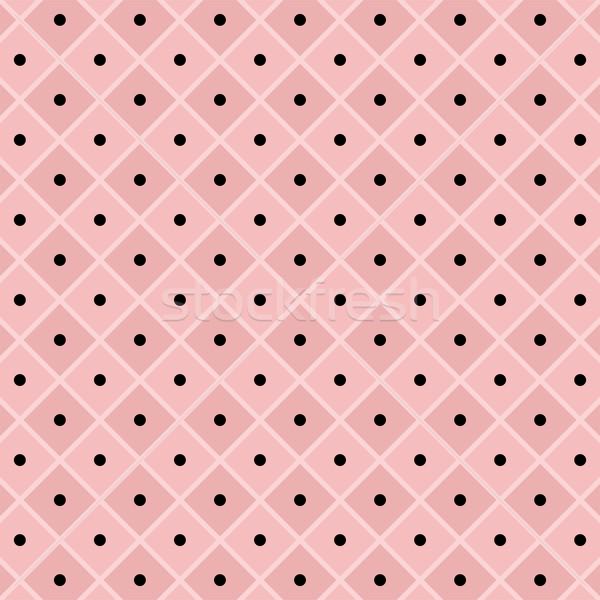 Vecteur à pois à carreaux modèle rose texture Photo stock © freesoulproduction