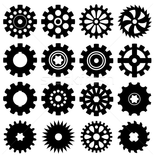 vector collection of gear icons Stock photo © freesoulproduction