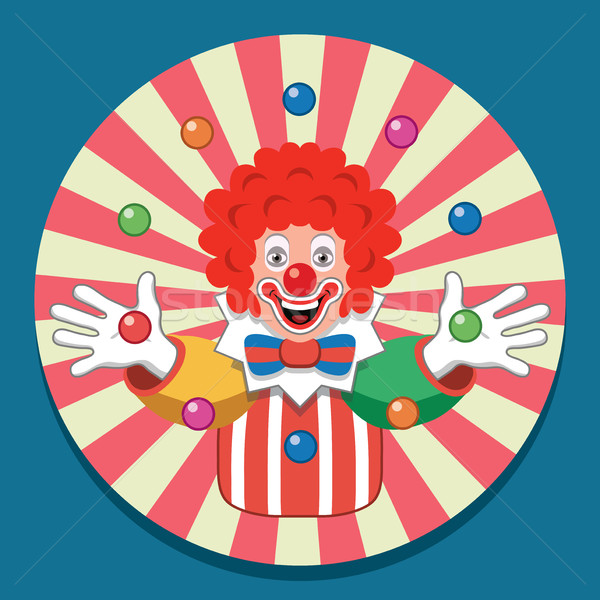 vector background with juggling circus clown Stock photo © freesoulproduction