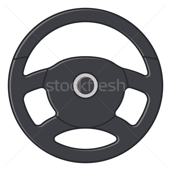 Vector auto stuur icon geïsoleerd witte Stockfoto © freesoulproduction
