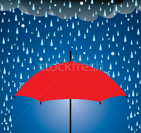 umbrella protection from rain and hail Stock photo © freesoulproduction