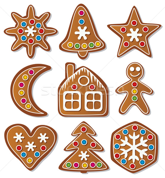 vector set of gingerbread cookies Stock photo © freesoulproduction