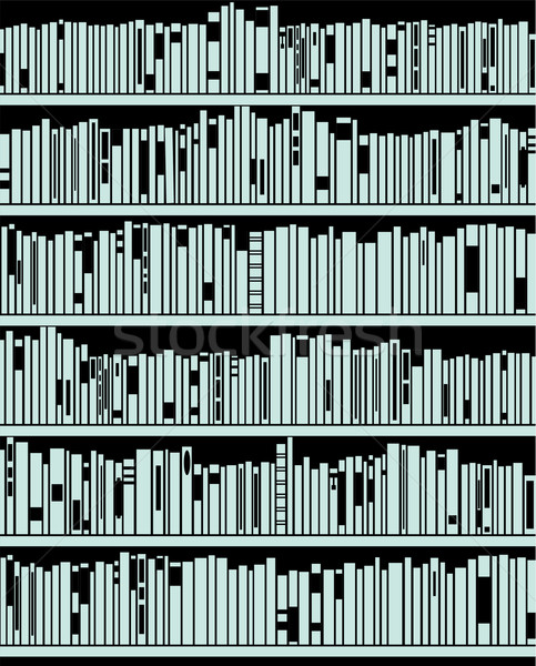 vector abstract modern bookshelf Stock photo © freesoulproduction
