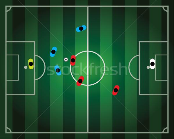 Vetor futebol jogo de futebol negócio globo esportes Foto stock © freesoulproduction