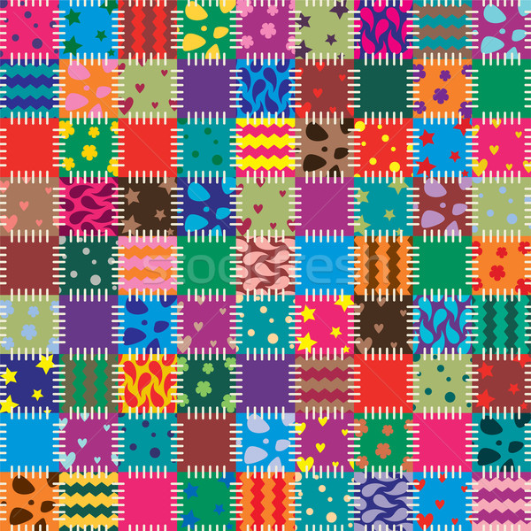 vector patchwork art background  Stock photo © freesoulproduction
