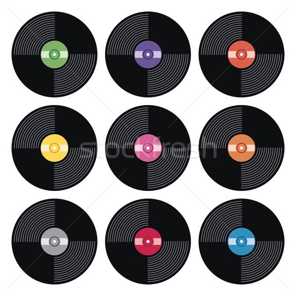 Vecteur musique rétro vinyle record Photo stock © freesoulproduction