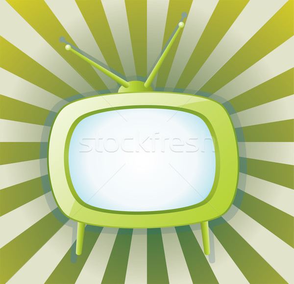 vector retro tv set Stock photo © freesoulproduction