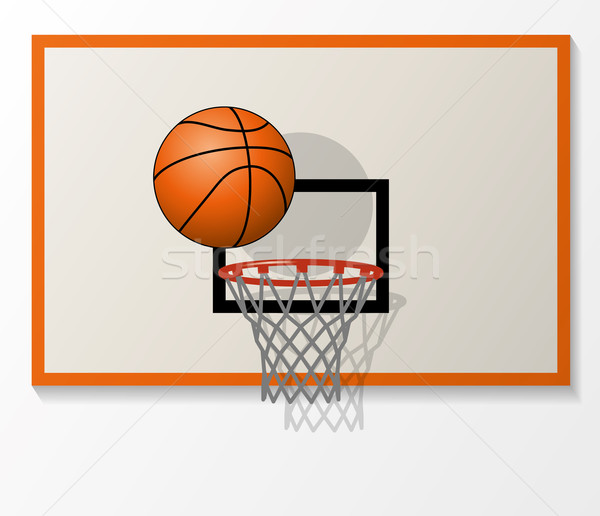 vector basketball net and backboard set, ball dunk in the hoop  Stock photo © freesoulproduction