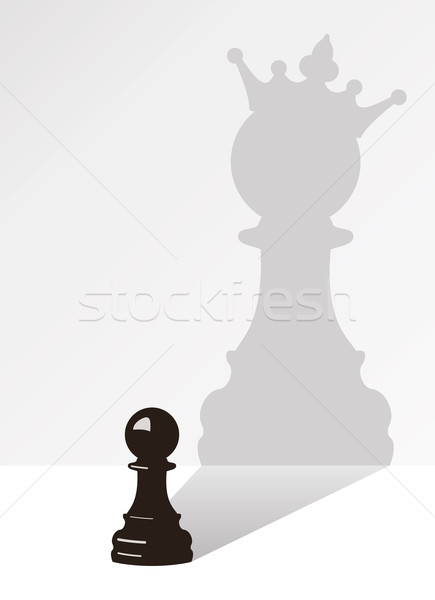 vector chess pawn with the shadow Stock photo © freesoulproduction