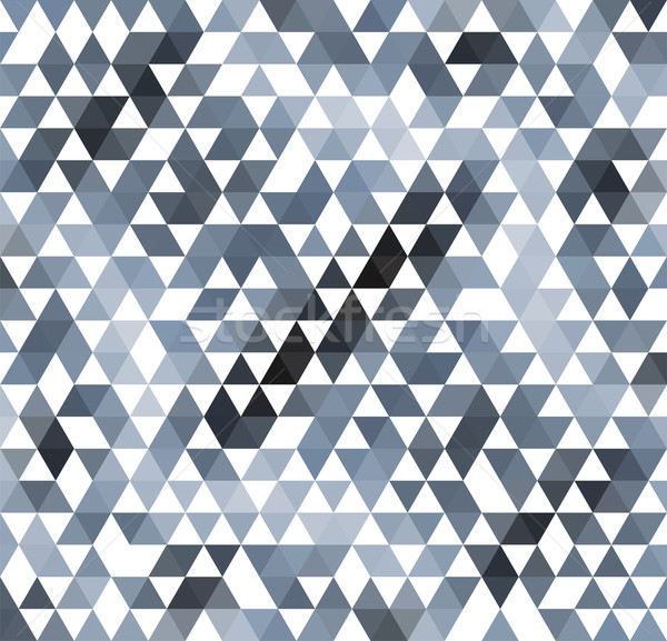 vector abstract gray mosaic pattern Stock photo © freesoulproduction