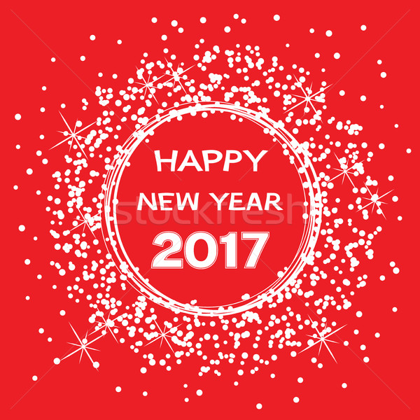 vector background for happy new year 2017 celebration card Stock photo © freesoulproduction