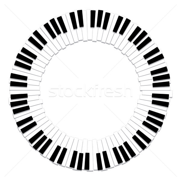 vector round border of piano keyboard Stock photo © freesoulproduction