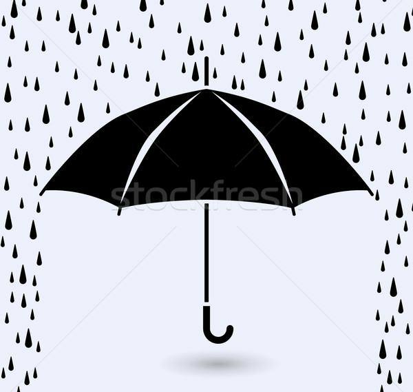 vector symbol of umbrella protection from rain  Stock photo © freesoulproduction