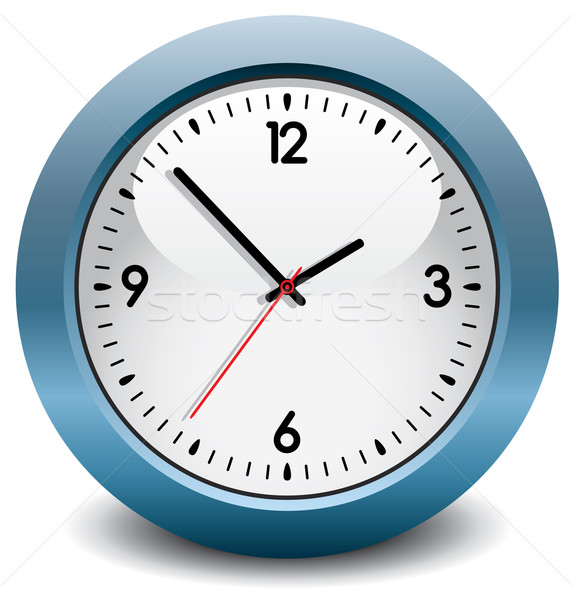 vector blue clock Stock photo © freesoulproduction