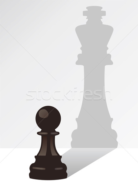 vector chess pawn with the shadow of a king Stock photo © freesoulproduction