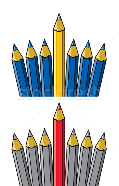 vector unique pencil standing out from others  Stock photo © freesoulproduction